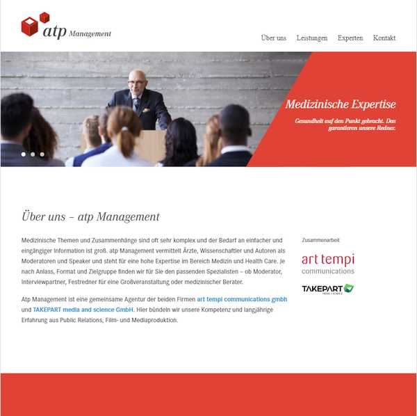 atp-management Web development by TAKEPART Media + Science
